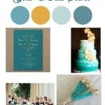 The Hall @ Senate's End All-Inclusive Wedding Package Gold & Teal Soiree